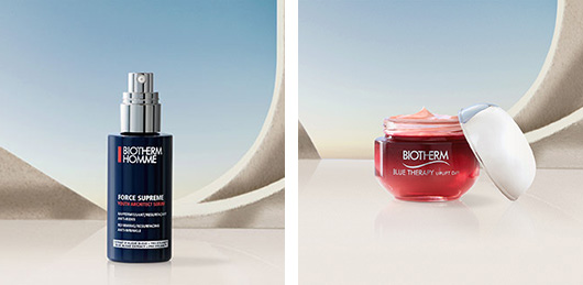 Blue Therapy Red Algae Uplift Cream X Force Supreme Youth Architect Serum